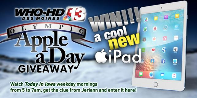 who apple a day giveaway contest