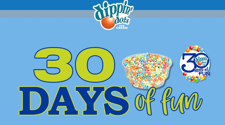 Dippin dots 30 days of fun sweepstakes win free home for Win a home contest